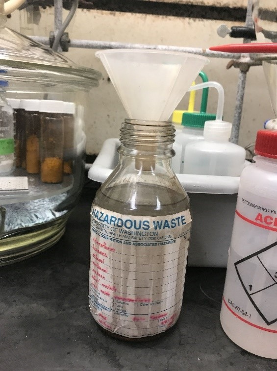 Chemical waste bottle