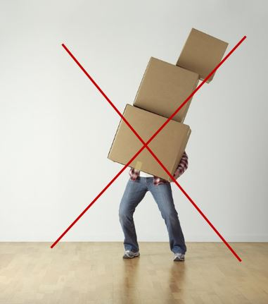 person overloaded with boxes