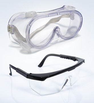 safety goggles and safety glasses